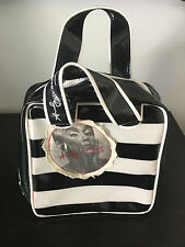 Loop NYC Andy Warhol Edie Sedgwick Travel Metallic Black White Stripe Bag Purse
