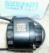 "1/3"" Avenir direct drive Iris F1.2, 6mm,  CS-Mount CCTV Lens Japan. New in Box"