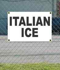 2x3 ITALIAN ICE Black & White Banner Sign NEW Discount Size & Price FREE SHIP
