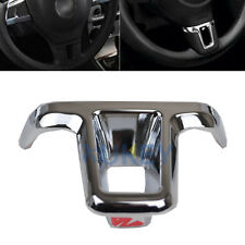 FIT FOR VW GOLF POLO JETTA EOS STEERING WHEEL MIDDLE INSERT CHROME COVER TRIM