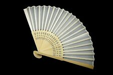 12 x Stunning White Silk Fans Organza Gift Bag Wedding Favour Beach Party Bridal