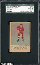 1951-52 Parkhurst Hockey #55 Red Kelly Red Wings RC Rookie HOF SGC 35 GOOD+ 2.5