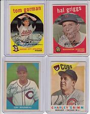1960 Topps # 217 Cubs Charley Grimm signed autograph with COA
