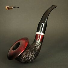 "HAND MADE WOODEN SMOKING PIPE  no. 66  ""Calabash""  Red Rustic"
