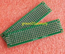 10pcs Double Side 2x8cm Printed Circuit PCB Vero Prototyping Track Strip Board