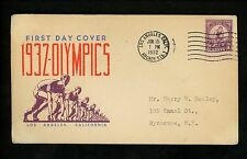 US FDC #718 Decker M-10 1932 Los Angeles Summer Olympic Sports Games