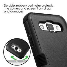 For SAMSUNG Galaxy E5 / S978L PHONE BLACK TUFF HYBRID ACCESSORY SKIN COVER CASE