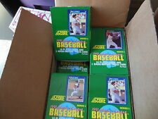 1991 SCORE BASEBALL CARDS UNOPENED BOX 36 PACKS SERIES1 FACTORY SEALED FROM CASE