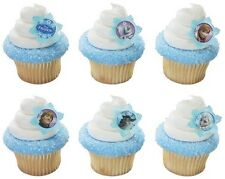 12 Disney Frozen Anna Elsa Cake Cupcake Rings Girl Birthday Party Toppers Favors
