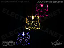 Owl Colour-Changing LED Light-Up Mobile - Battery Powered, Night Light