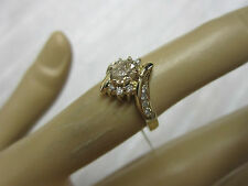 GORGEOUS ESTATE 14 KT GOLD .72 CTW CHAMPAGNE DIAMOND RING !!!!!!!!!!