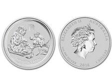 2016 Australian Lunar Year of the Monkey 1oz 999 Silver Bullion Coin Free deliv.