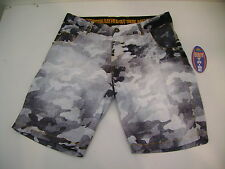 SCORPION BAY BOARDSHORT PANTALONCINO MARE COSTUME MBS3121 BLACK NERO BIANCO 28