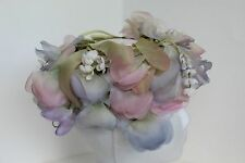 VINTAGE PASTEL FLORAL LADIES HAT/HEADPIECE