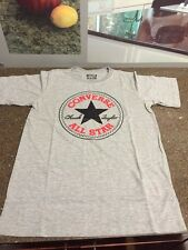 CONVERSE ALL-STAR GRAY W/RED-BLACK STAR LOGO YOUTH SIZE MEDIUM