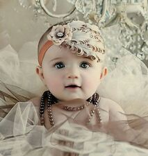 Baby Girls Newborn Toddler Feather Headband Hair Acceessory Photography Prop Hot