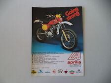 advertising Pubblicità 1977 MOTO APRILIA RC 125