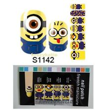 Minion Nail Wrap Patch Foil Adhesive Stickers 14pcs Ultra-thin