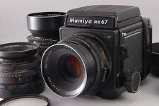 [Exc+++] Mamiya RB67 ProS w/ 2pcs 127mm 180mm Lens and 120 Film from Japan #5301