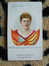 Cigarette Card : Adkin & Sons : A Royal Favourite (1900) : Duchess of SaxeCobury