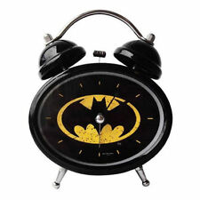 NUOVO Batman Logo sveglia retrò Twin Bell STILE DARK KNIGHT LUCI LED REGALO