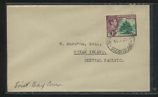 Gilbert  and  Ellice  41 on first day cover   local use           MS0729
