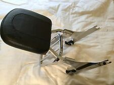 OEM HARLEY DETACHABLE SISSY BAR BACK REST WITH LUGGAGE RACK - CHROME