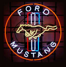 "New FORD MUSTANG NEON LIGHT SIGN 20""x16"""