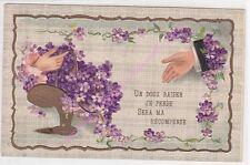 CPA GAUFREE Un doux baiser je pense sera ma récompense mains femme homme ca1907