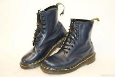 Dr. Doc Martens Womens UK 5 US 7 England Made Blue Leather 8-Eye Ankle Boots jy