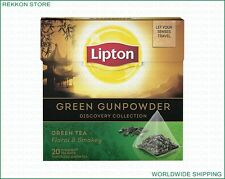The Best Lipton Discovery Collection Green Gunpowder Tea 20 Pyramids Bags Box