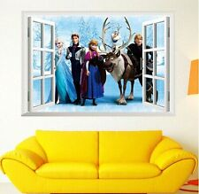 FROZEN WALL ART MURUAL STICKER ELSA, ANNA, OLAF BOYS GIRLS BEDROOM, PLAYROOM