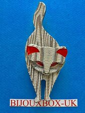 LEA STEIN BACCHUS CAT BROOCH. Free post worldwide.