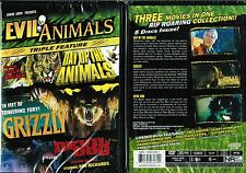 Evil Animals Triple Feature Day of Animals Grizzly Devil Dog  New 3 DVD Box Set
