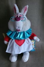 "DISNEYSTORE GENUINE ALICE IN WONDERLAND - WHITE RABBIT - MEDIUM - 15"" BNWT"