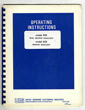 UREI - 535 - 533  INSTALLATION OPERATING AND MAINTENACE MANUAL ( ORIGINAL BOOK )