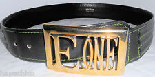 ESCADA Vintage Leather Belt Green 40 10 Gold  HapaChico Haute Couture