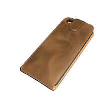 NEW OKER BROWN LEATHER FOLDING CASE APPLE IPHONE 5 5S  SUPER FAST SHIPPING