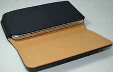 Premium Leather Belt Pouch Magnetic Flip Cover Nokia Lumia 800 Black 3.7""