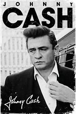 (LAMINATED) JOHNNY CASH SIGNATURE POSTER (91x61cm) ANGRY FACE SUIT NEW WALL ART