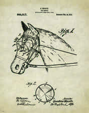 Horse Rodeo Patent Print Art Poster Western Antique Cowboy Saddle Spurs PAT244
