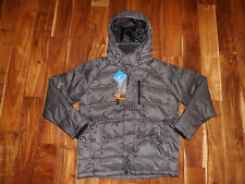 NWT Mens HAWKE & CO Charcoal Gray Down Feather Parka Outerwear Jacket Coat M