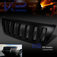 99-04 Grand Cherokee H2 Style Front Vertical Bumper Hood Grill Grille Black