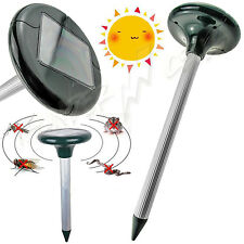 Ultrasonic Solar Powered Mouse Outdoor Pest Insect Mosquito Repeller Garden Farm
