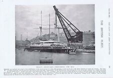 HMS Camperdown in Malta Dockyard - Antique Photographic Print 1897