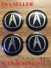4pcs 56.5mm Acura Emblem Badge Logo Wheel Center Hubs Caps Sticker Free Shipping