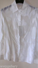 NWT VALENTINO ITALY SIZE 40 4 CLASSIC SHIRT BLOUSE TOP COLOR WHITE FLOWERS SHEER