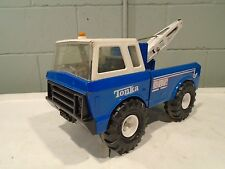 Tonka Mighty Wrecker Vintage 1979 Tow Truck RARE Blue Holds Action Figure