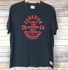 Canadian Olympic Team 2014 Official T-Shirt Gray Red Graphic Men's Sz XL