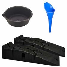 DIY Oil Change Kit Ramps Drain Pan Funnel Service Maintenance New Free Shipping